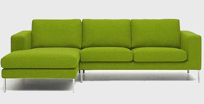 зелений кутовий диван фото