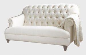 нерозкладний диван білий фото
